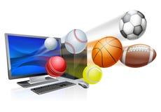 App αθλητικών υπολογιστών έννοια Στοκ Φωτογραφίες