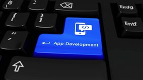 445 App ανάπτυξη γύρω από την κίνηση στο κουμπί πληκτρολογίων υπολογιστών απόθεμα βίντεο