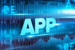 App αφηρημένο μπλε υπόβαθρο κειμένων έννοιας μπλε Στοκ Εικόνες