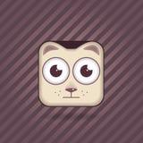 App γάτα εικονιδίων Στοκ φωτογραφία με δικαίωμα ελεύθερης χρήσης