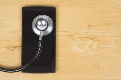 App για την κράτηση των διορισμών γιατρών Στοκ Φωτογραφίες