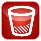 App δοχείων απορριμμάτων εικονίδιο Στοκ Φωτογραφία