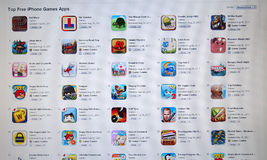 App εικονίδιο παιχνιδιών καταστημάτων στον υπολογιστή LCD Στοκ εικόνα με δικαίωμα ελεύθερης χρήσης
