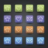 App εικονίδια Στοκ φωτογραφίες με δικαίωμα ελεύθερης χρήσης