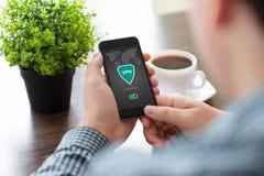 App εκμετάλλευσης ατόμων τηλεφωνικό vpn προστασία πρωτοκόλλων Διαδικτύου δημιουργιών Στοκ φωτογραφία με δικαίωμα ελεύθερης χρήσης