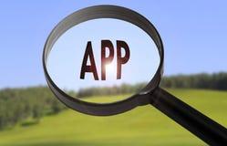 App εφαρμογή Στοκ φωτογραφία με δικαίωμα ελεύθερης χρήσης