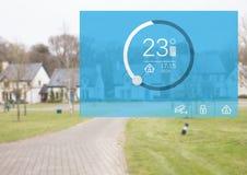 App θερμοκρασίας συστημάτων εγχώριας αυτοματοποίησης διεπαφή Στοκ Εικόνα