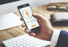 App διατροφής υγείας θερμίδας αντίθετη έννοια Στοκ Εικόνα