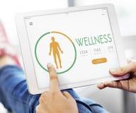 App διατροφής υγείας θερμίδας αντίθετη έννοια Στοκ Εικόνες