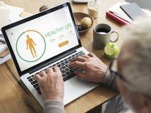 App διατροφής υγείας θερμίδας αντίθετη έννοια Στοκ Φωτογραφία