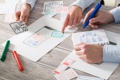 App ιστοχώρου σχεδίων σχεδιαστών ux ανάπτυξη Στοκ εικόνα με δικαίωμα ελεύθερης χρήσης