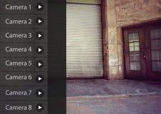 App κάμερων ασφαλείας αποθήκευση αποθηκών εμπορευμάτων διεπαφών Στοκ Φωτογραφία