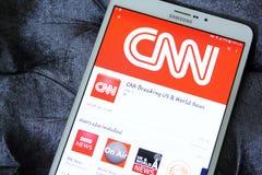 App καναλιών ειδήσεων Cnn λογότυπο Στοκ φωτογραφίες με δικαίωμα ελεύθερης χρήσης