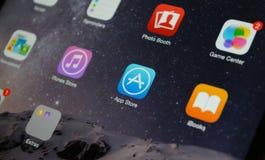 App κινηματογράφηση σε πρώτο πλάνο καταστημάτων Στοκ Εικόνες