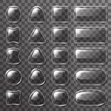 App κουμπιών πιάτων γυαλιού ui εικονιδίων διαφανής υποβάθρου διανυσματική απεικόνιση στοιχείων σχεδίου στιλπνή Στοκ φωτογραφίες με δικαίωμα ελεύθερης χρήσης