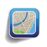 App κουμπιών χαρτών διάνυσμα Στοκ Εικόνες