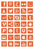 App μέσων δικτύωσης κοινωνικά σημάδια λογότυπων στοκ φωτογραφία με δικαίωμα ελεύθερης χρήσης