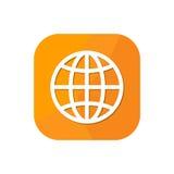 App μηχανών αναζήτησης παγκόσμιων σφαιρών εικονίδιο Στοκ εικόνα με δικαίωμα ελεύθερης χρήσης