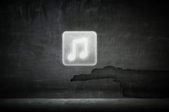 App μουσικής εικονίδιο Μικτά μέσα Στοκ Φωτογραφίες