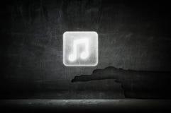 App μουσικής εικονίδιο Μικτά μέσα Στοκ Εικόνες
