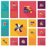 App παιχνιδιών παιδιών επίπεδο ui υπόβαθρο, eps10 Στοκ Φωτογραφίες