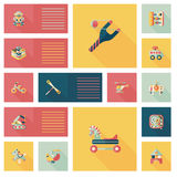 App παιχνιδιών παιδιών επίπεδο ui υπόβαθρο, eps10 Στοκ Εικόνα