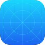 App πρότυπο εικονιδίων Στοκ Εικόνες