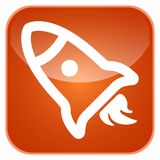 App πυραύλων εικονίδιο Στοκ εικόνα με δικαίωμα ελεύθερης χρήσης