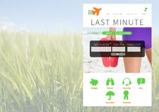 App σπασιμάτων διακοπών φύση διεπαφών Στοκ Εικόνες