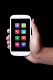 App στο smartphone Στοκ εικόνα με δικαίωμα ελεύθερης χρήσης