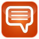 App συνομιλίας εικονίδιο Στοκ φωτογραφίες με δικαίωμα ελεύθερης χρήσης