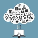 App σύννεφων έννοια Στοκ εικόνα με δικαίωμα ελεύθερης χρήσης