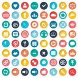 App σύνολο εικονιδίων Εικονίδια για τους ιστοχώρους και κινητές εφαρμογές επίπεδος διανυσματική απεικόνιση