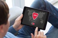 App ταμπλετών εκμετάλλευσης ατόμων vpn protectio πρωτοκόλλων Διαδικτύου δημιουργιών Στοκ Φωτογραφία
