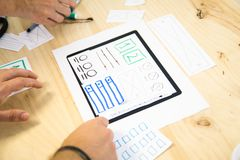 app ταμπλετών σχέδιο Στοκ Εικόνες