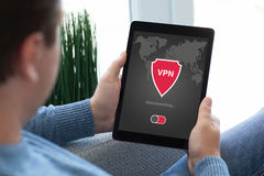App ταμπλετών εκμετάλλευσης ατόμων vpn protectio πρωτοκόλλων Διαδικτύου δημιουργιών Στοκ Φωτογραφίες