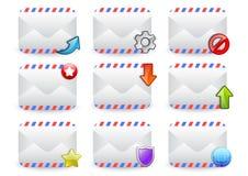 app ταχυδρομείου σύνολο διανυσματική απεικόνιση
