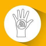 app τεχνολογίας σύνδεση weareable Στοκ εικόνες με δικαίωμα ελεύθερης χρήσης