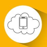 app τεχνολογίας σύνδεση weareable Στοκ φωτογραφία με δικαίωμα ελεύθερης χρήσης