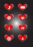 App τηλεφωνικών εικονιδίων σύμβολο Στοκ Φωτογραφίες