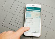 3117 app τραίνο app στο iPhone 7 συν τα προγράμματα εφαρμογών Στοκ Εικόνες