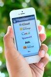 App υπηρεσίες αποστολής ηλεκτρονικών μηνυμάτων. Στοκ Εικόνες