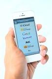 App υπηρεσίες αποστολής ηλεκτρονικών μηνυμάτων Στοκ Φωτογραφία