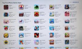 App хранит икона игры в компьютере Lcd стоковое изображение rf