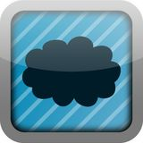 app εικονίδιο σύννεφων Στοκ Εικόνα
