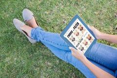 智能手机app菜单的综合图象 免版税库存图片