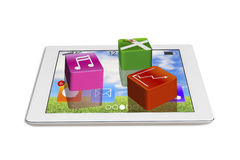 App blocks on smart pad Royalty Free Stock Images