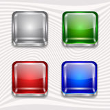 App buttons set Royalty Free Stock Images