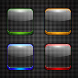 App buttons set Stock Photography