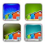 App buttons set. Home icons. Stock Photography